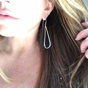 Jewelry - Beautiful sterling silver long hoops!!